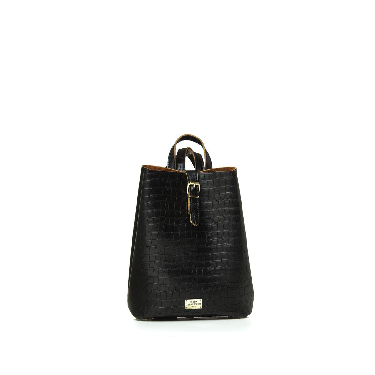 Backpack Croco Pattern Black