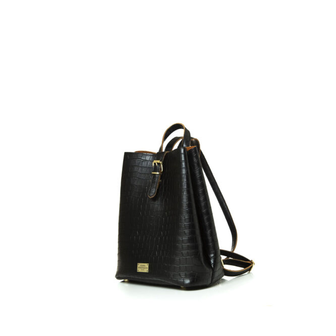 Backpack Croco Pattern Black