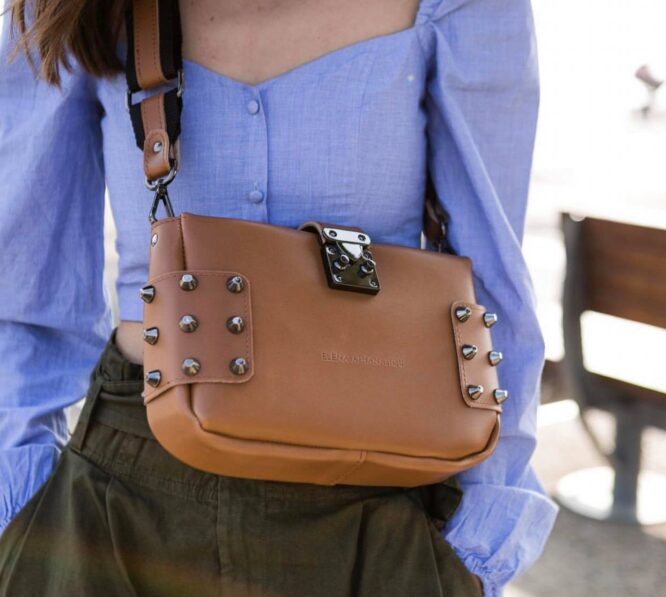City Lady Clutch Cognac
