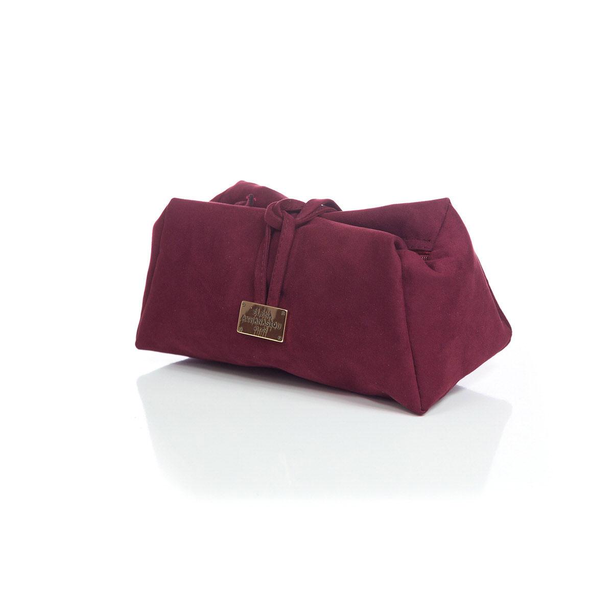 Lunchbag Suede Burgundy