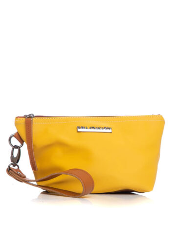 Satin Clutch Yellow