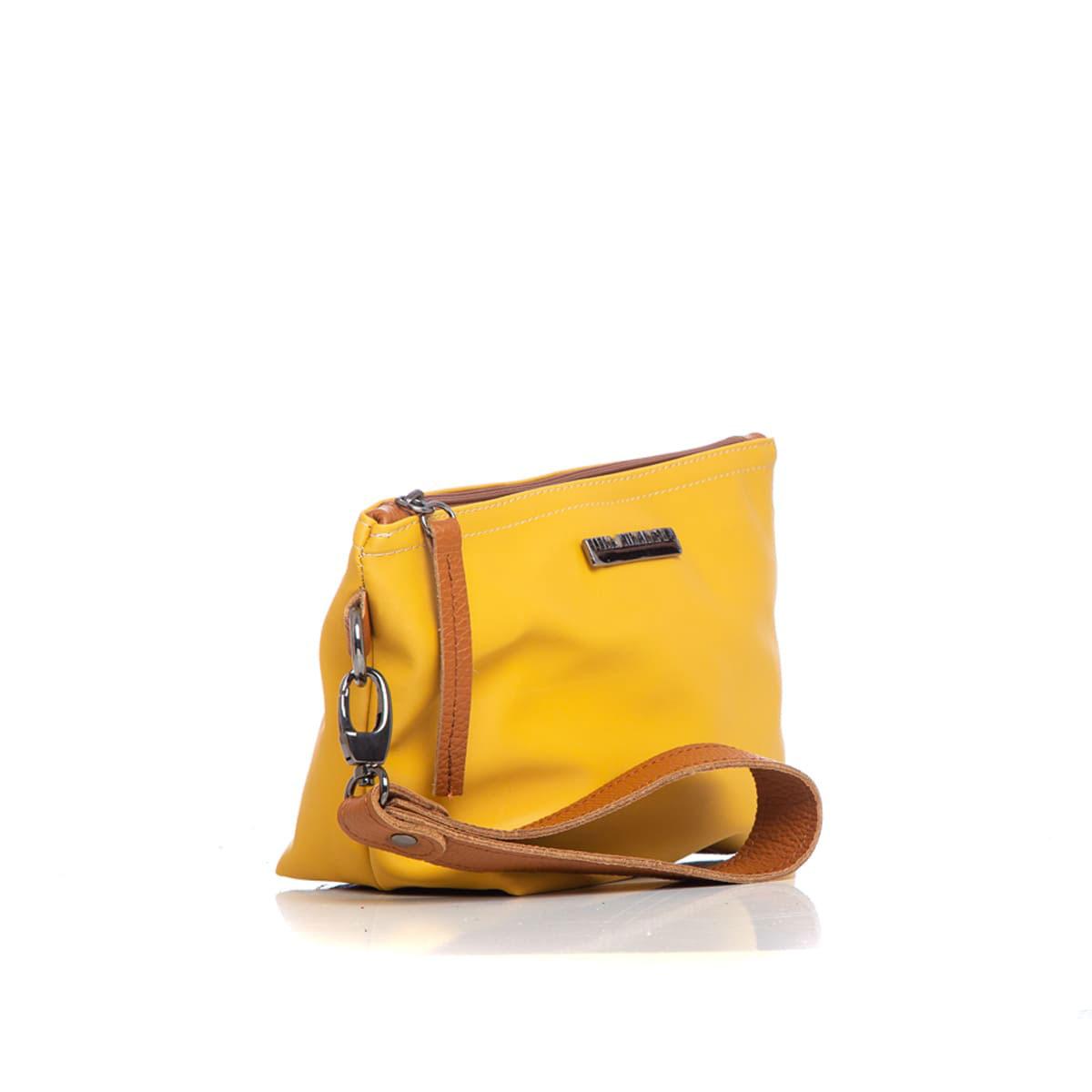 Satin Clutch Yellow