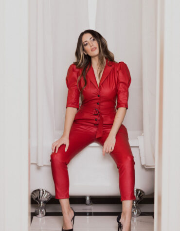 Red Jumpsuit We Coss