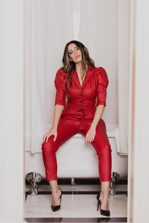 Ολόσωμη Φόρμα Κόκκινη We Coss