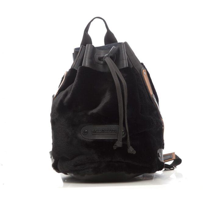 Fluffy Backpack Black