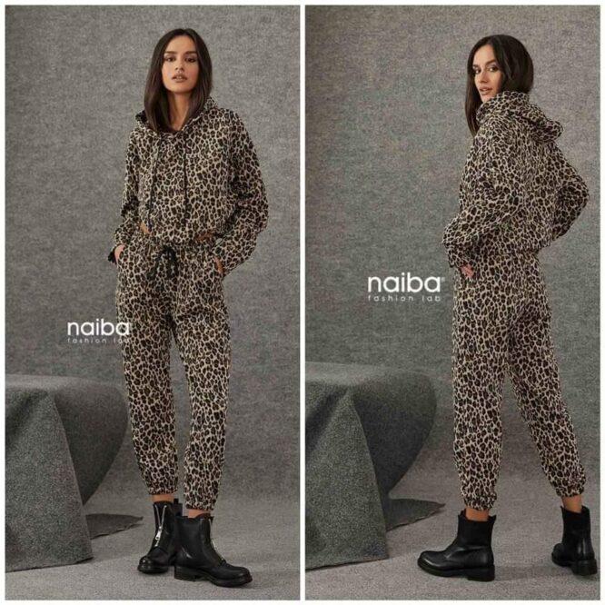 Σαλβάρι animal print Naiba