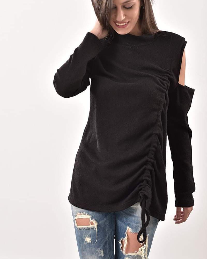 Μπλούζα μαύρη Prive Collection