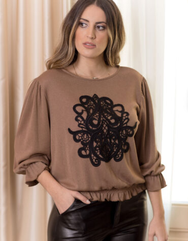 Velluto Rosso camel top