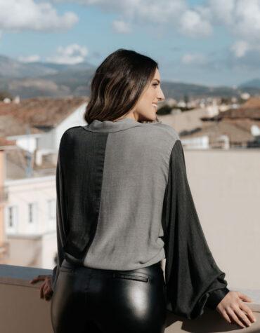 Μπλούζα με γιακά Velluto Rosso